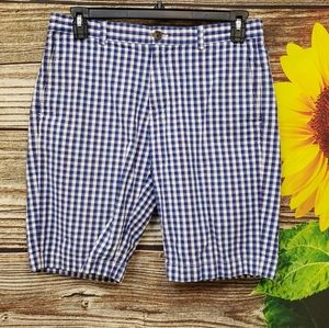 Brooks brothers blue/white check shorts Pre-owned